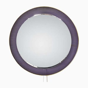Round Purple Mirror by Floris Fiedeldij for Artimeta, 1960s