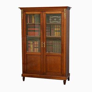 Viktorianisches Bücherregal aus glasiertem Mahagoni