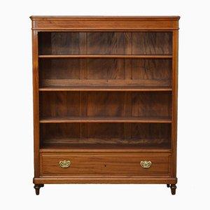 Antique Open Mahogany Bookcase