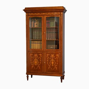Antique French Mahogany Bookcase
