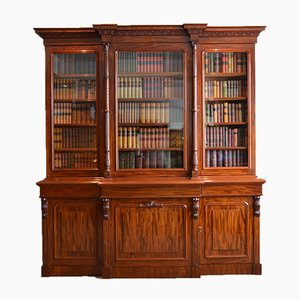 Bibliothèque Victorienne en Acajou