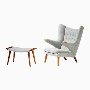 Chaise et Ottomane Modèle AP-19 en Chêne par Hans J. Wegner pour A.P. Stolen, 1953