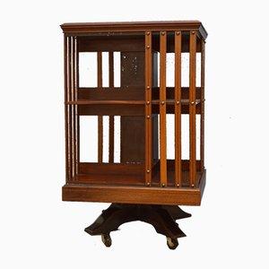 Edwardianisches drehbares Bücherregal aus Mahagoni