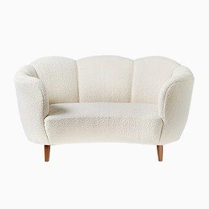Canapé Love Seat en Hêtre Courbé, Danemark, 1940s