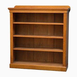Victorian Open Oak Bookcase