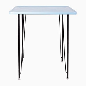 Mid-Century Industrial Light Blue Fiberglass Table by Miroslav Navratil for Vertex, 1960s