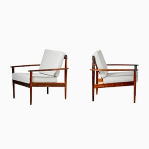 Mid-Century PJ-56 Rosewood Lounge Chairs by Grete Jalk for Poul Jeppesens Møbelfabrik, 1950s, Set of 2