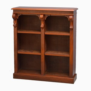 Offenes viktorianisches Bücherregal aus Mahagoni