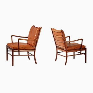 Vintage PJ-146 Rosewood Colonial Chairs by Ole Wanscher for Poul Jeppesens Møbelfabrik, 1940s, Set of 2