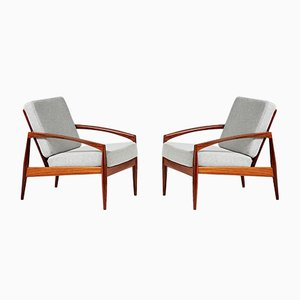 Mid-Century Model 121 Rosewood Lounge Chairs by Kai Kristiansen for Magnus Olesen, 1950s, Set of 2
