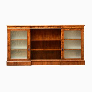 Victorian Walnut Bookcase or Display Cabinet
