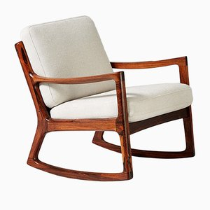 Vintage Danish Rosewood Senator Rocking Chair by Ole Wanscher for France & Søn / France & Daverkosen, 1960s