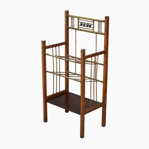 Antique Secessionist Magazine Rack