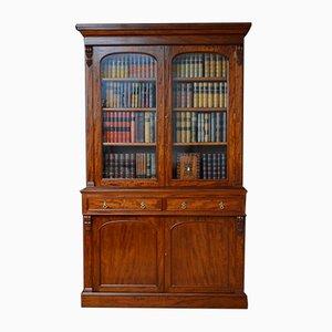 Großes viktorianisches Bücherregal aus Mahagoni