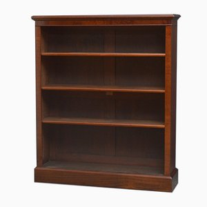 Late Victorian Open Solid Mahogany Bookcase