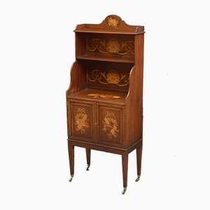 Edwardian Mahogany Waterfall Bookcase