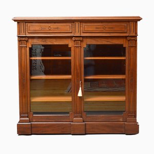 Antique Aesthetic Movement Mahogany Library Cabinet