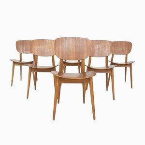 Esszimmerstühle aus Schichtholz, 1960er, 6er Set