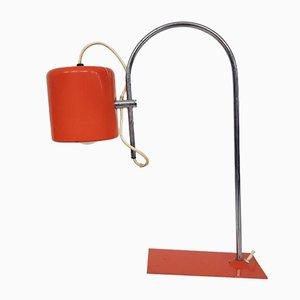 Orangefarbene Niederländische Mid-Century Schreibtischlampe, 1960er