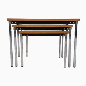 Belgian Nesting Tables by Pierre Guariche for Meurop, 1960s