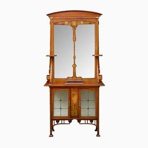 Armoire Art Nouveau Antique avec Miroir