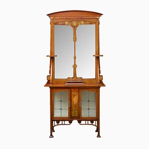 Mobiletto Art Nouveau antico con specchio