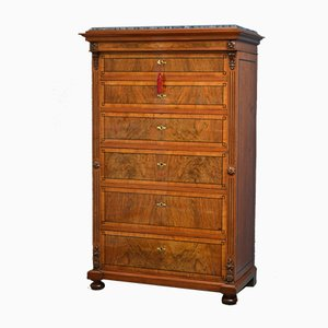 Antique Continental Walnut Chest of Drawers