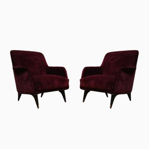 Lounge Chairs by Carlo de Carli for Cassina, 1950s, Set of 2