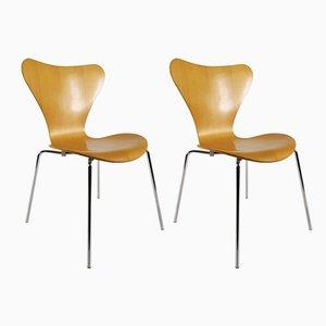 Nr. 3107 Butterfly Stühle von Arne Jacobsen für Fritz Hansen, 1990er, 2er Set
