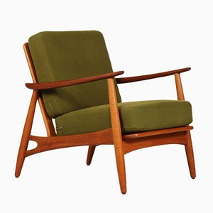 Mid-Century 121 Oak Easy Chair by Johannes Andersen for Københavns Madrasfabrik, 1950s