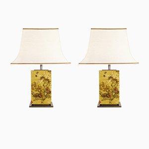 Lámparas de mesa vintage de Belgo Chrom, años 70. Juego de 2