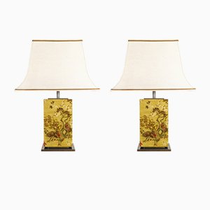 Vintage Tischlampen von Belgo Chrom, 1970er, 2er Set