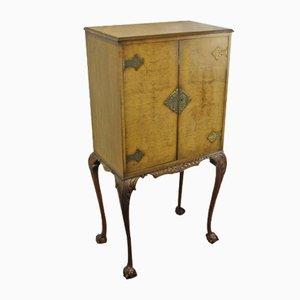 Mueble de cóctel de nogal con interior de arce, años 40