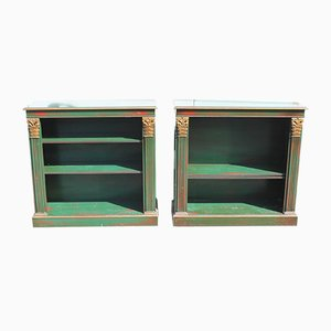 Green Painted Cabinets from The Pier, 1960s, Set of 2