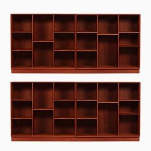 Danish Teak Book Cases by Peter Hvidt & Orla Mølgaard-Nielsen for Søborg Møbelfabrik, 1960s, Set of 2