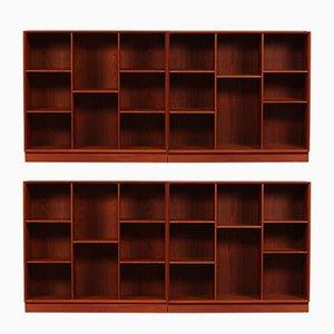 Librerie in teak di Peter Hvidt & Orla Mølgaard-Nielsen per Søborg Møbelfabrik, Danimarca, anni '60, set di 2