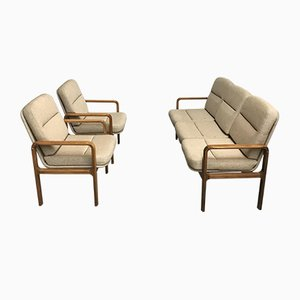 Mid-Century Danish Bentwood Living Room Set, 1980s