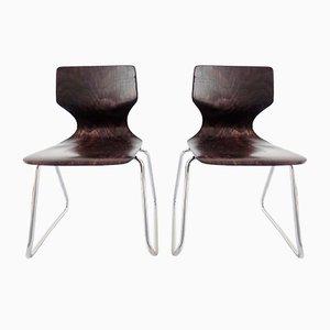 Chaises Hautes par Adam Stegner pour Flötotto, 1970s, Set de 2