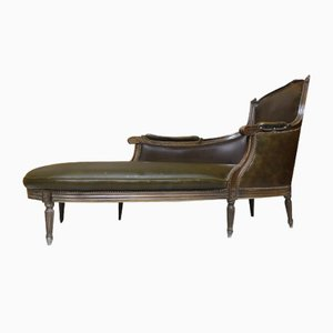 Leather Chaise Lounge, 1910s