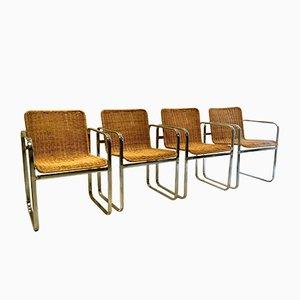 Dining Chairs by Dirk van Sliedregt for Sliedregt, 1970s, Set of 4