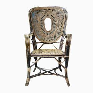 Art Deco Rattan Armchair, 1920s