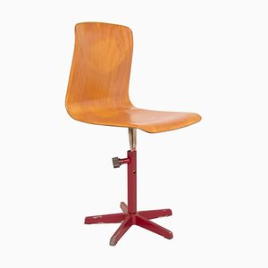 German Industrial Plywood Swivel Chair from Pagholz, 1960s