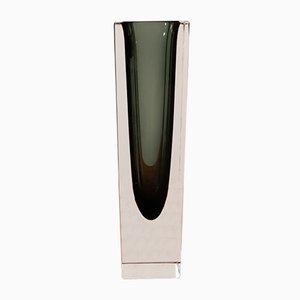 Jarrón vintage de cristal de Murano sumergido de V. Nason & Co
