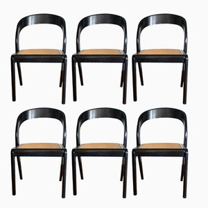 Model Gondola Dining Chairs from Baumann, 1970s, Set of 6