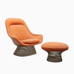Sessel mit Fußhocker von Warren Platner für Knoll, 1960er