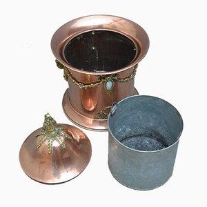 Spätviktorianischer Kohlenbehälter aus Kupfer