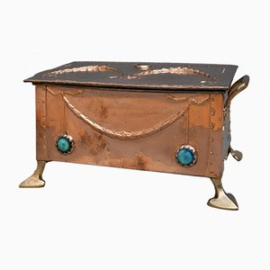 Antique Arts And Crafts Coal Bin