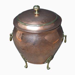 Antique Art Nouveau Coal Bin