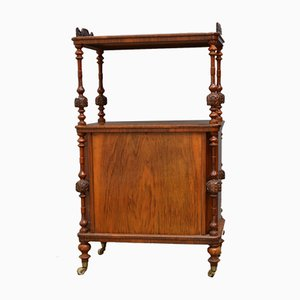 Antique Victorian Walnut Stand with Shelves