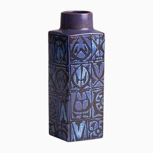 Blaue BACA Vase von Nils Thorsson für Royal Copenhagen, 1970er